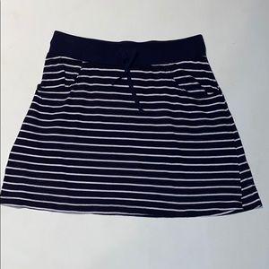 Woman's Spirit Navy/White Stripe Pocket Mini Skirt